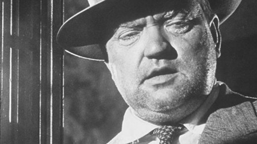 Orson Welles in the role of Hank Quinlan
