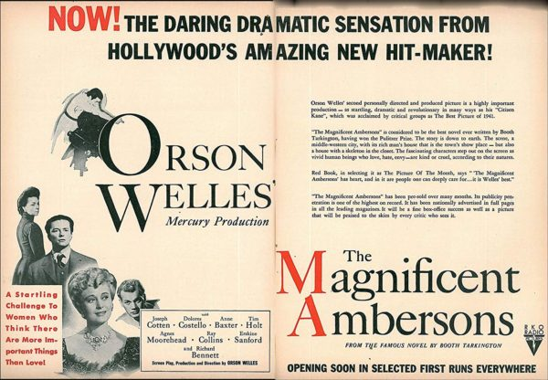 Advertisement for the film The Magnificent Ambersons (1942)