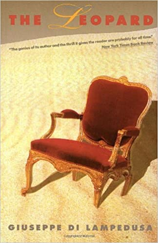 Cover of the Pantheon edition of the translation of Lampedusa's Il Gattopardo.