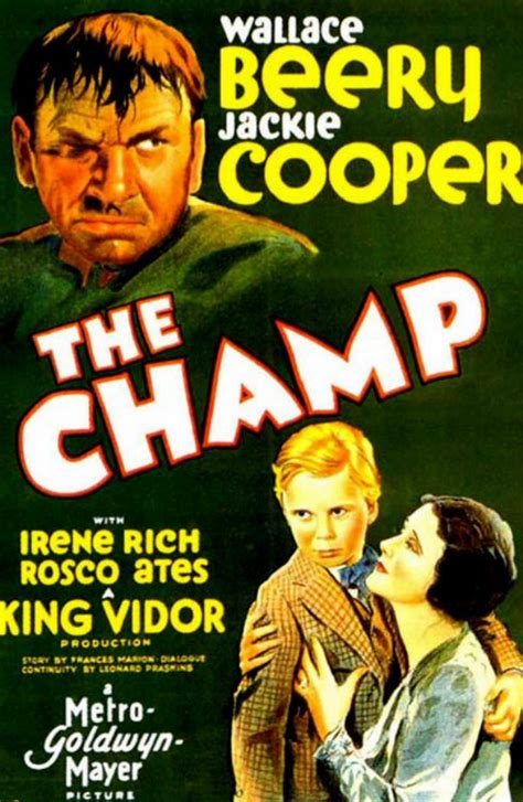 Poster art from The Champ (1931)