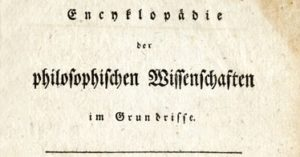 Title page of the German version of Hegel's Encyclopedia (1817)