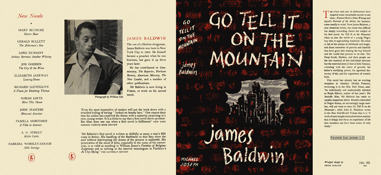 Dust jacket from an early edition of Go Tell It On the Mountain