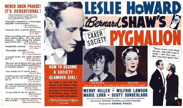 Pygmalion (1938) movie posters