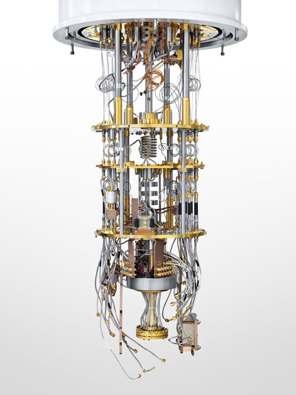 a quantum computer, of the sort Ted Chiang images conjuring the paraself