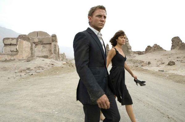 Film Still from Quantum of Solace, a film viewed not read