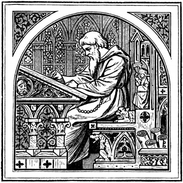 Real lovers of writing—the monks