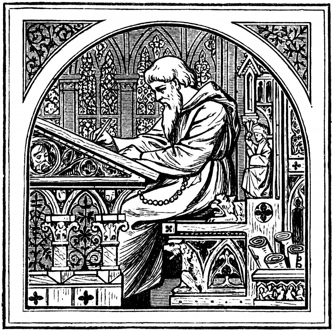 The medieval scholar, at work in the future archive