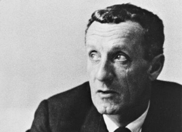 French phenomenologist Maurice Merleau-Ponty, whose Phenomenology of Perception I currently read, of whom it is very difficult to find an image online that is not of him alone