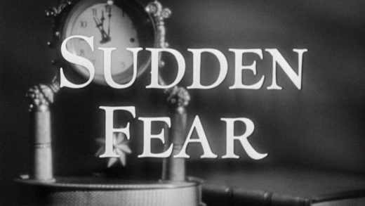 Title still from the film Sudden Fear