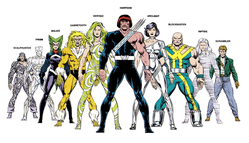 The Marauders of the Marvel crossover The Mutant Massacre