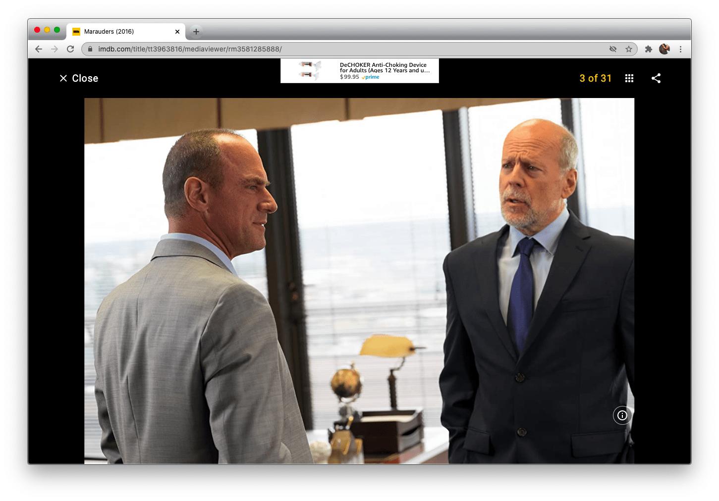 Marauders' principal characters played Chris Meloni and Bruce Willis