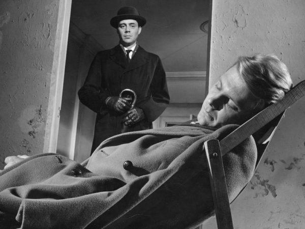Still from The Servant (1963) when Barrett first meets Tony