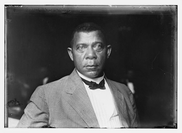 Photograph of Booker T. Washington from a glass negative, 1901