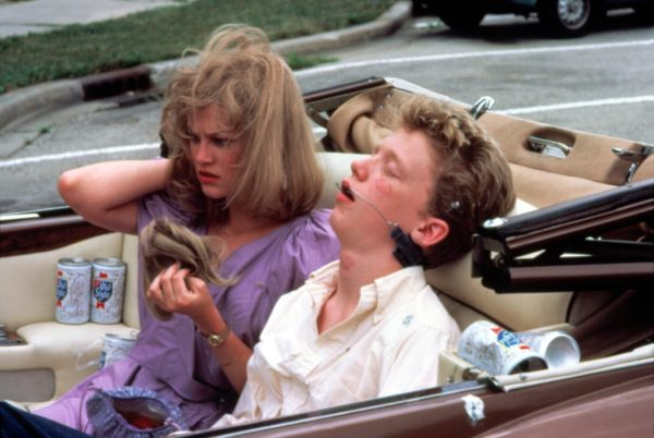 Carolina and Farmer Ted the day after, in Sixteen Candles.