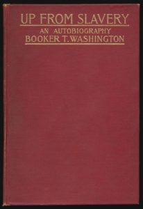 Cover of the first edition of Booker T Washington's Up From Slavery