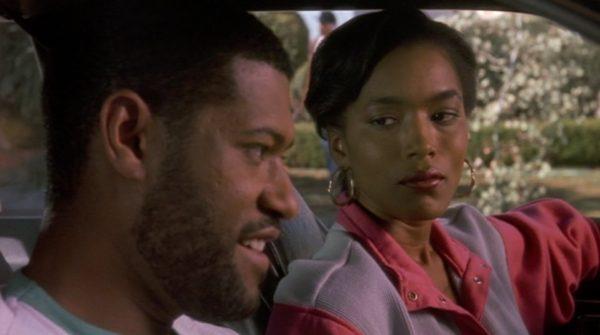 Still from Boyz N the Hood: Laruence Fishburne and Anglea Davis