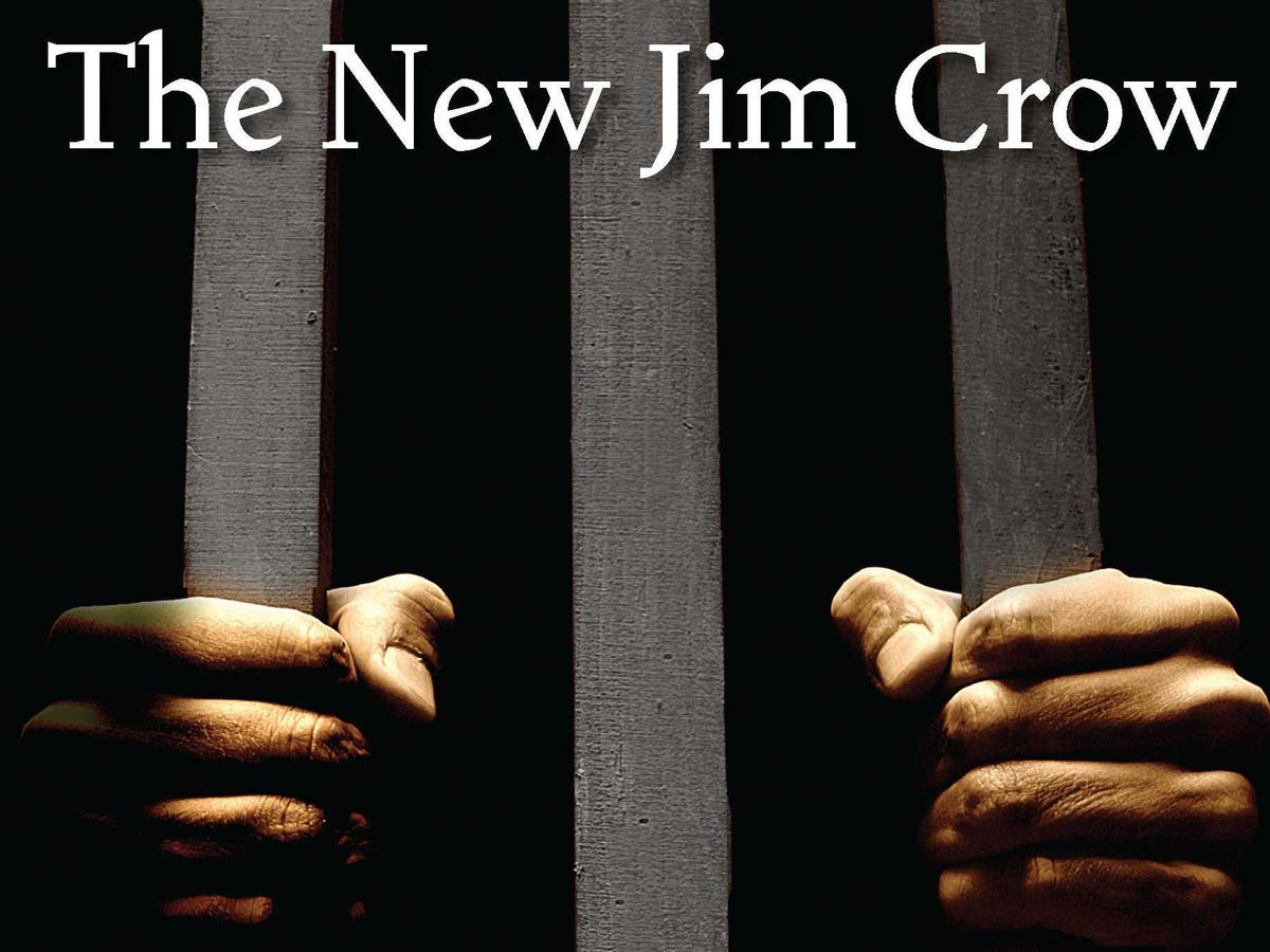 Image from the cover of Michelle Alexander's polemic against mass incarceration, The New Jim Crow