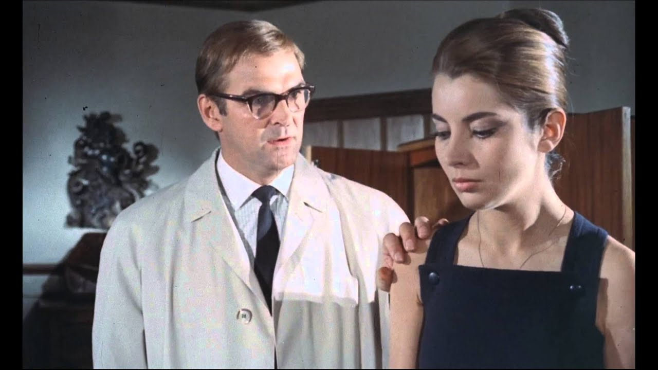 Charley (Stanley Baker) with Anna (Jacqueline Sassard) in Accident (1967)