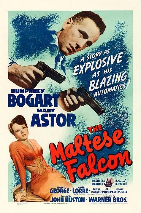 Promotional post for John Huston's 1941 film The Maltese Falcon