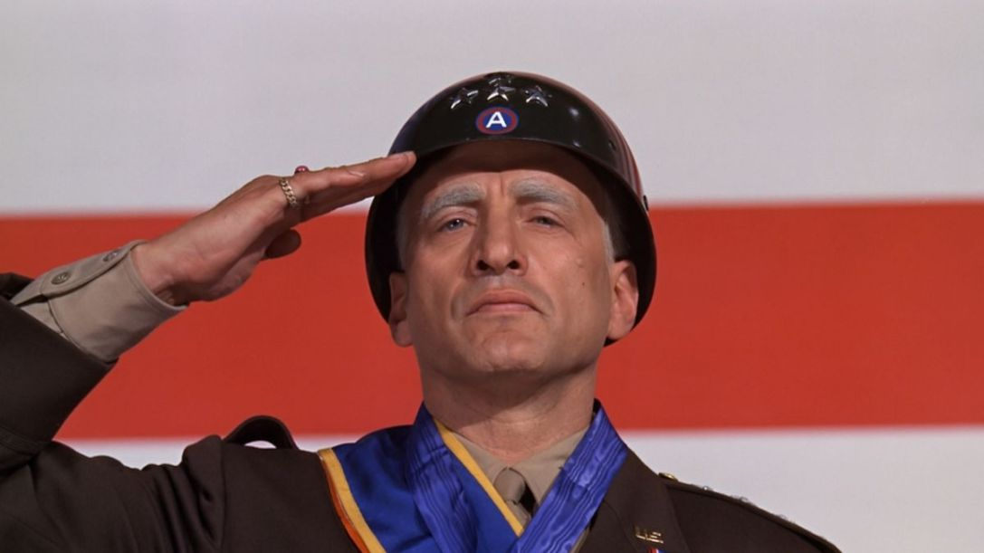 George C. Scott in the role of George S. Patton (1970), watched during early carefree days of May