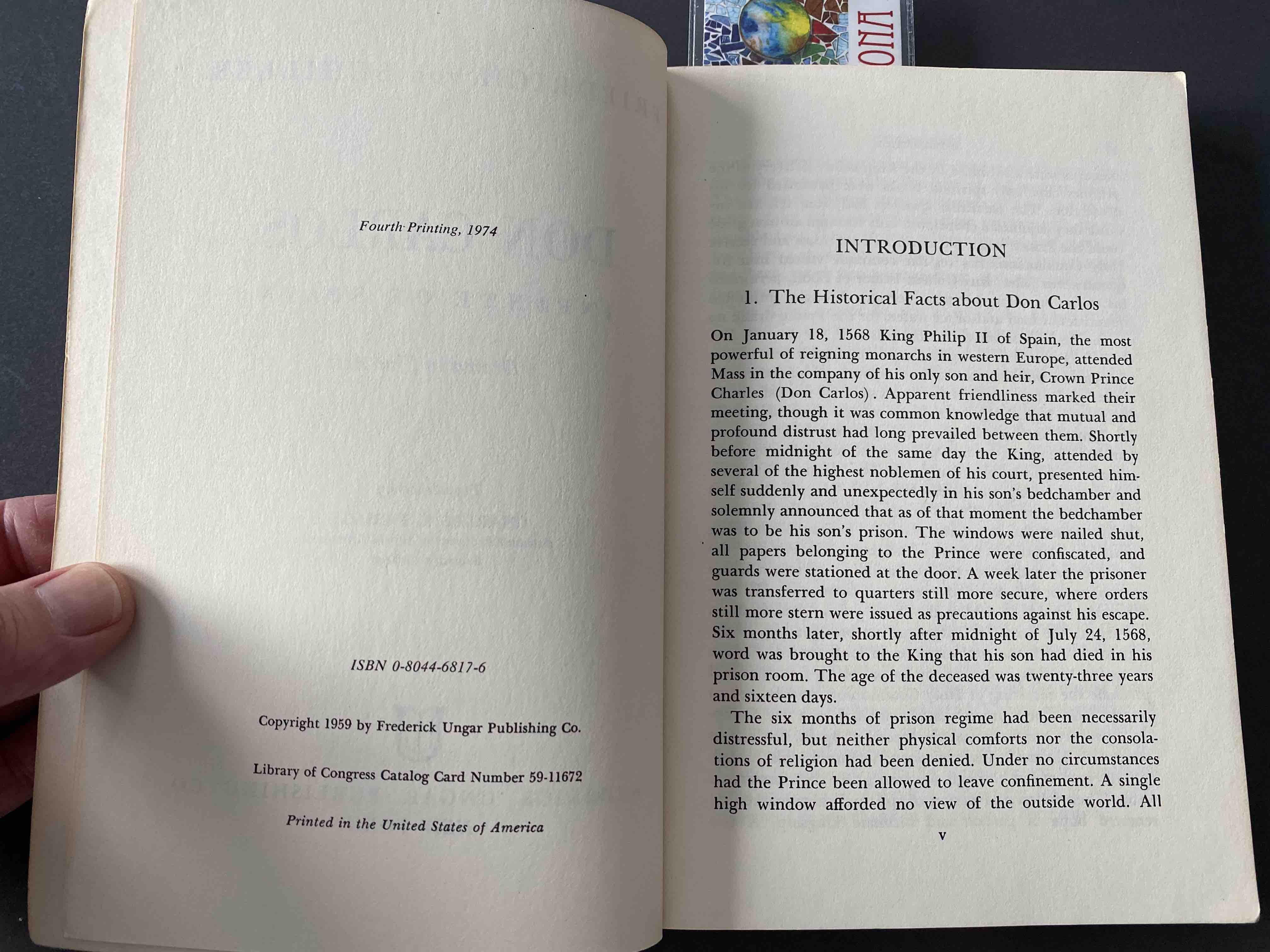 Friedrich Schiller, Don Carlos. First page.