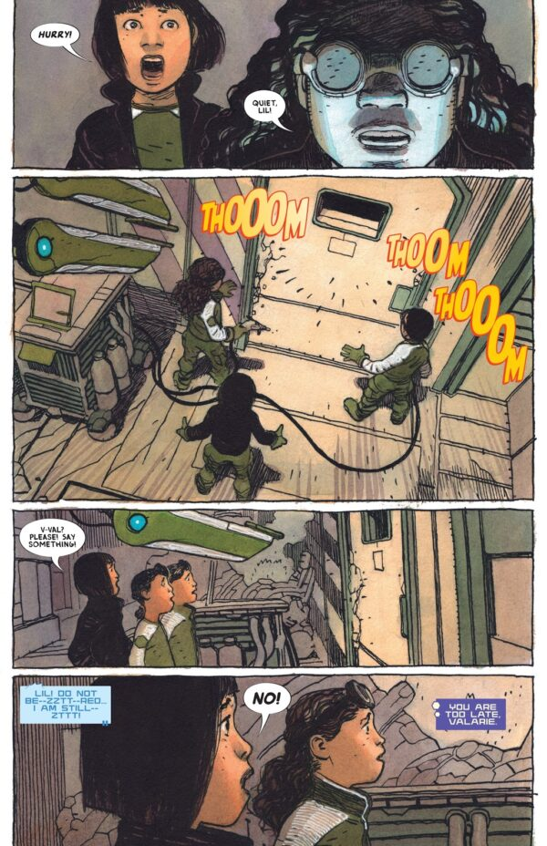 A page from Sentient, a graphic novel by Jeff Lemire and Gabriel Walta, read during May
