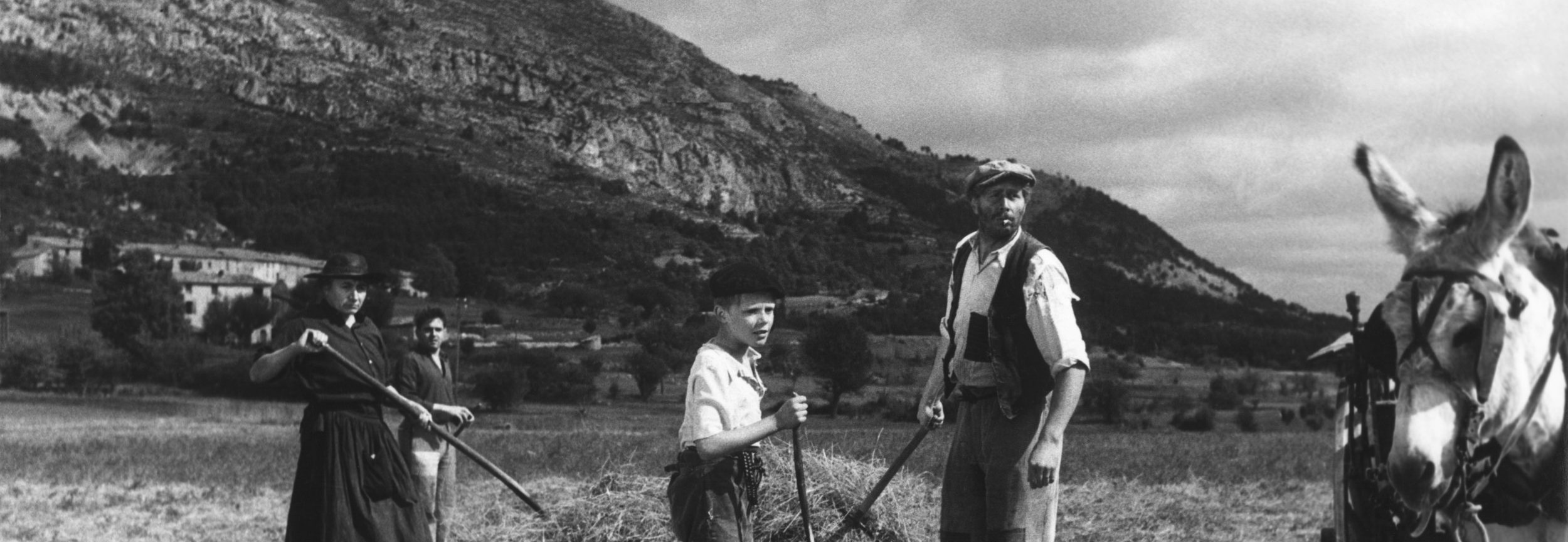 Michel and family in an early scene from the 1952 film Forbidden Games