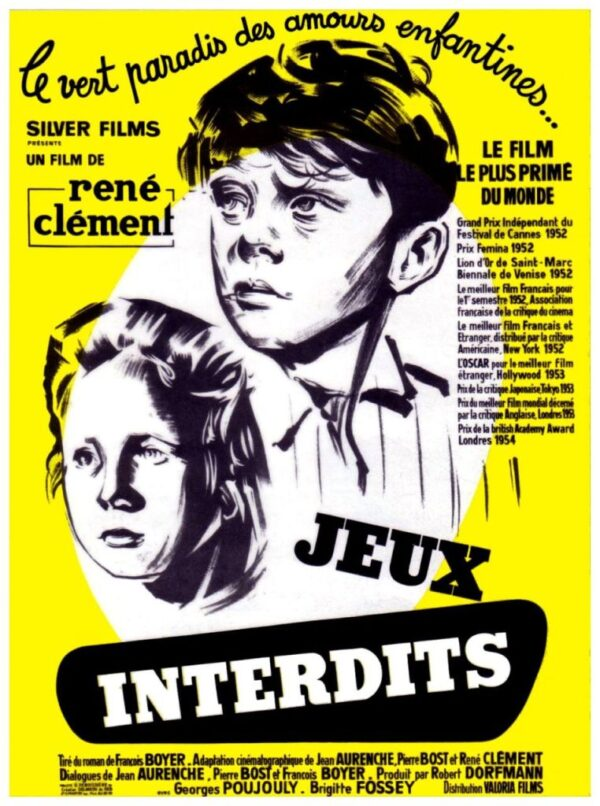 French poster for the film Forbidden Games (Jeux Interdits)