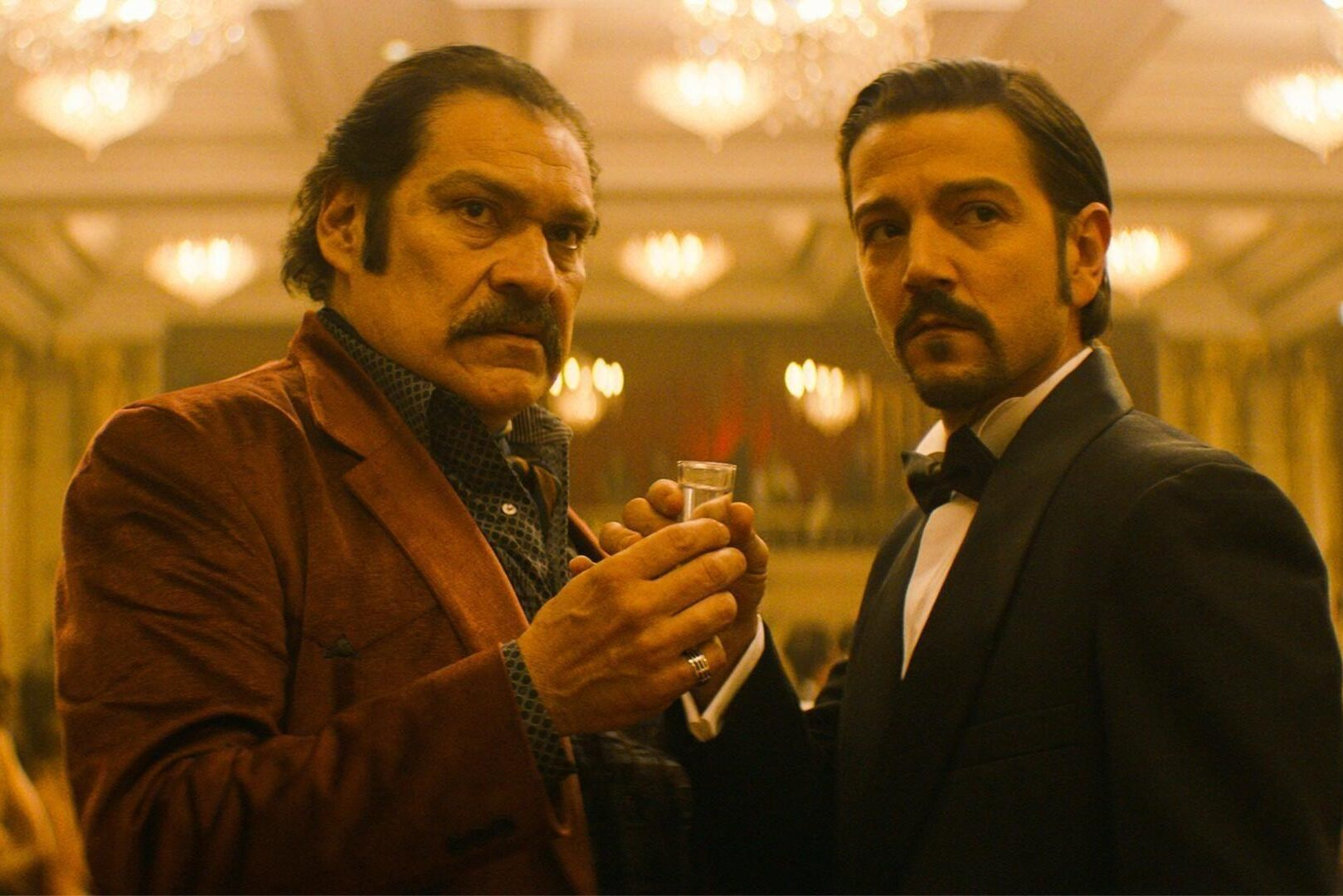 Diego Luna and Joaquín Casio in Narcos: Mexico (2018–), yet another story about drug lords